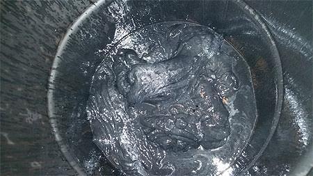 Aluminum wire drawing sludge