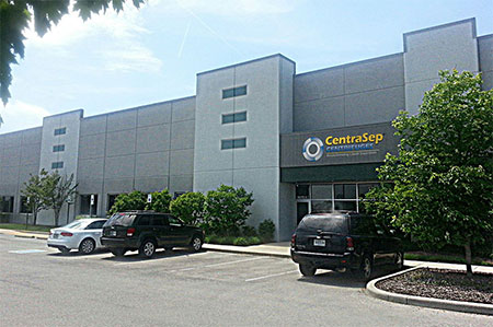 CentraSep Centrifuges Building
