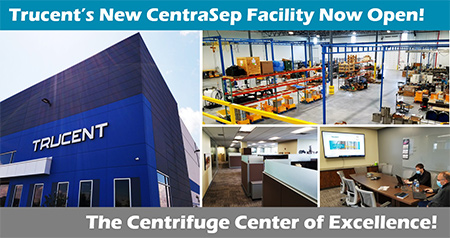 Assorted photos of Trucent's new CentraSep facility