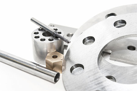 Metal flanges, mill and brass nuts