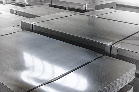 Stacks of sheet metal